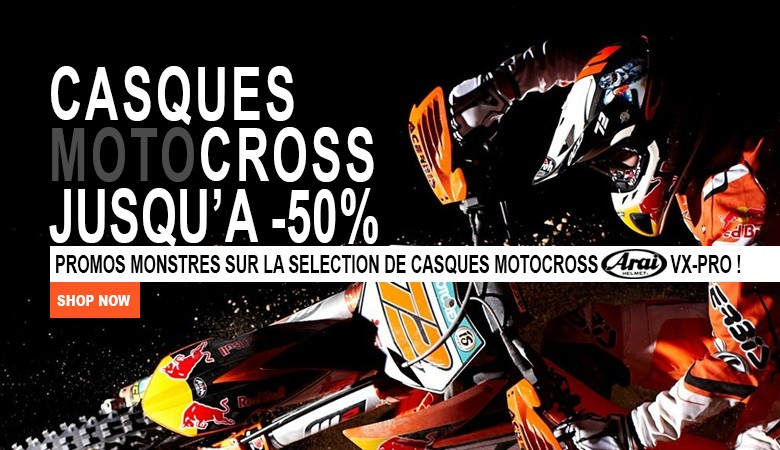 PROMOS CASQUE MOTO CROSS ARAI !